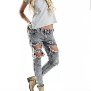 One Teaspoon Melrose Trashed Free Bird Skinny Jean